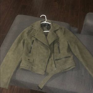 Forever 21 Green Faux Suede Jacket
